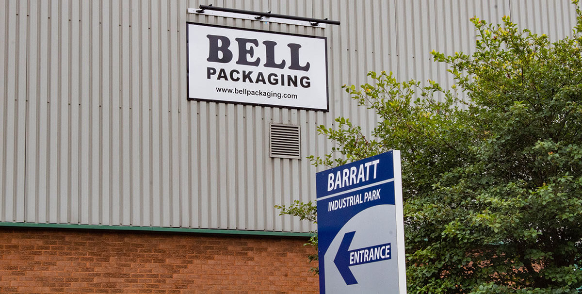 Bell Packaging production facility at Barratt Industrial Park, Luton